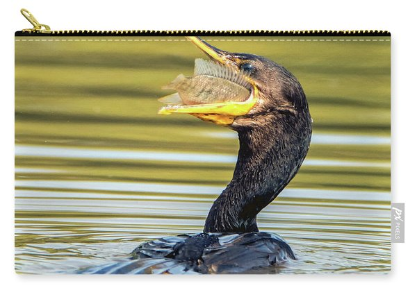 Cormorant With Fish 0977-111217-1cr Carry-all Pouch