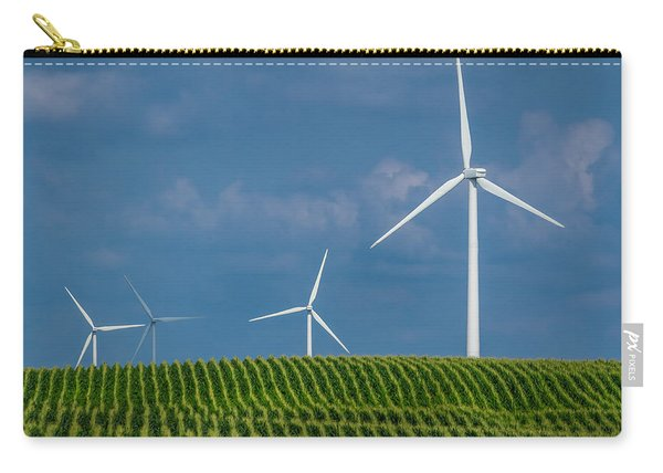Corn Rows And Windmills Carry-all Pouch