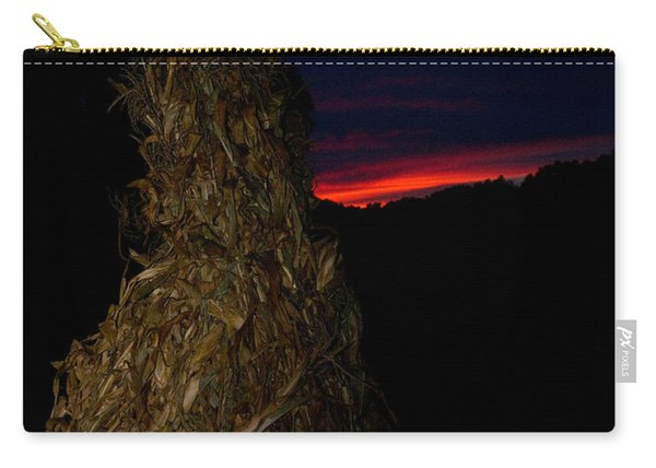 Corn Shock At Setting Sun Carry-all Pouch