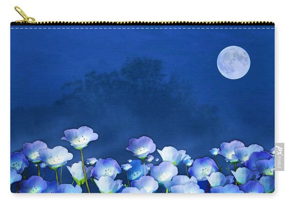 Cornflowers In The Moonlight Carry-all Pouch