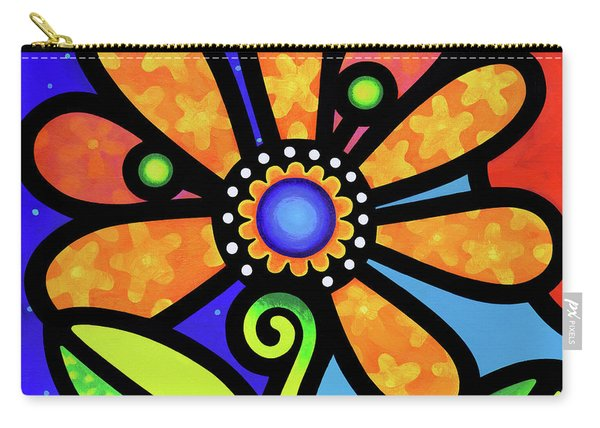 Cosmic Daisy In Yellow Carry-all Pouch