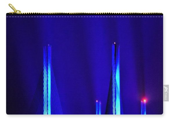 Blue Light Rays - Indian River Inlet Bridge Carry-all Pouch