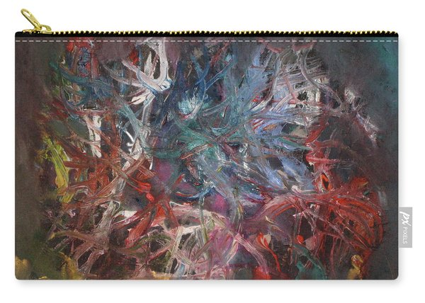 Carry-all Pouch featuring the painting Cosmic Web by Michael Lucarelli