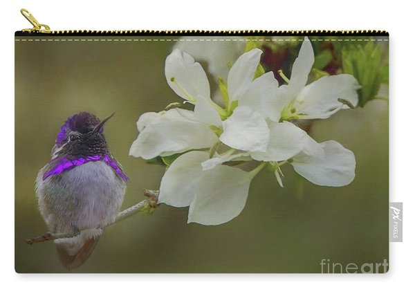 Costas Hummingbird On An Anacacho Orchid Branch Carry-all Pouch