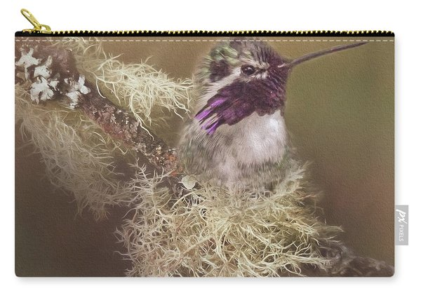 Costas Hummingbird Painted Carry-all Pouch