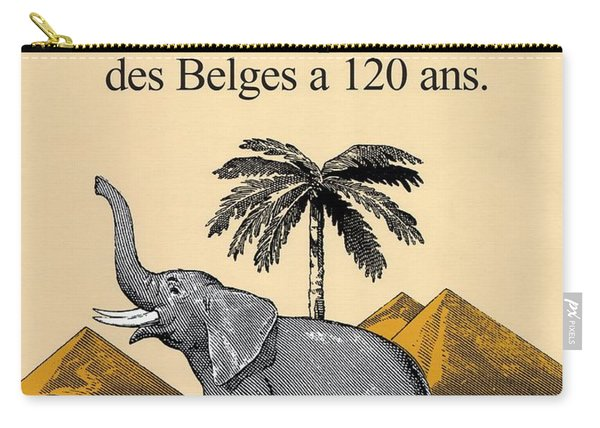 Cote D'or Chocolate - Belgian Chocolate - Elephant Near The Egyptian Pyramids - Vintage Poster Carry-all Pouch