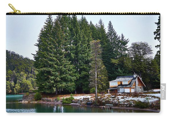 Little Cottage And Pines In The Argentine Patagonia Carry-all Pouch