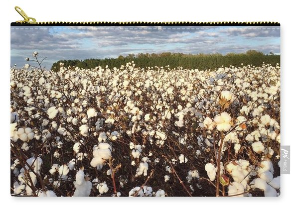 Cotton Field In South Carolina Carry-all Pouch