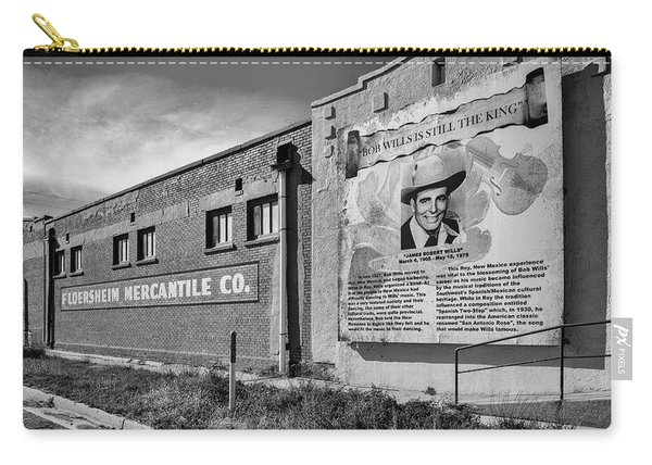Carry-all Pouch featuring the photograph Country Legend Bob Wills In Roy New Mexico by Mary Lee Dereske