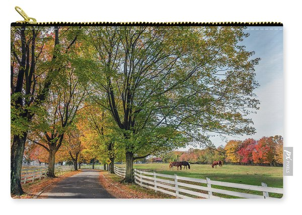 Country Road In Rural Maryland During Autumn Carry-all Pouch