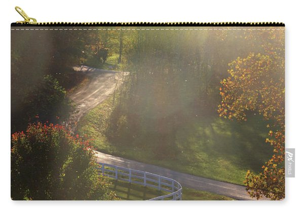 Country Road In Rural Virginia, With Trees Changing Colors In Autumn Carry-all Pouch