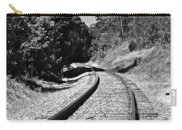 Country Tracks Black And White Carry-all Pouch