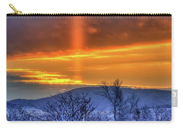 Country Winter Sun Pillar Carry-all Pouch