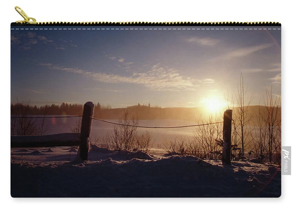 Country Winter Sunset Carry-all Pouch