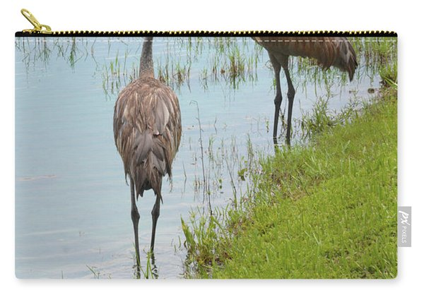 Couple Of Sandhills By Pond Carry-all Pouch