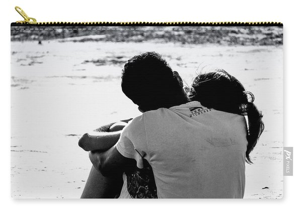 Couple On Beach Carry-all Pouch