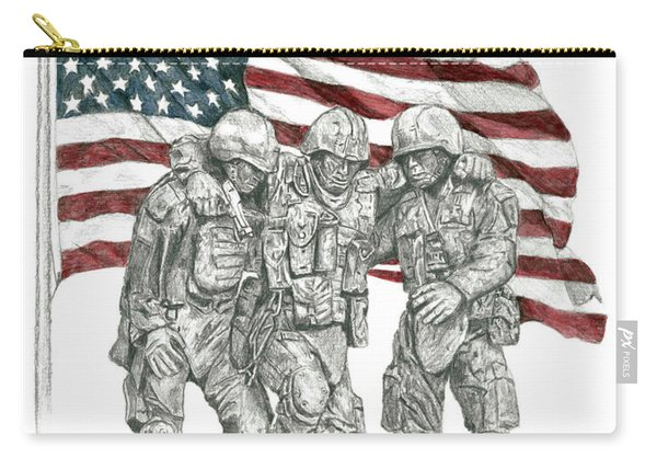 Courage In Brotherhood Carry-all Pouch