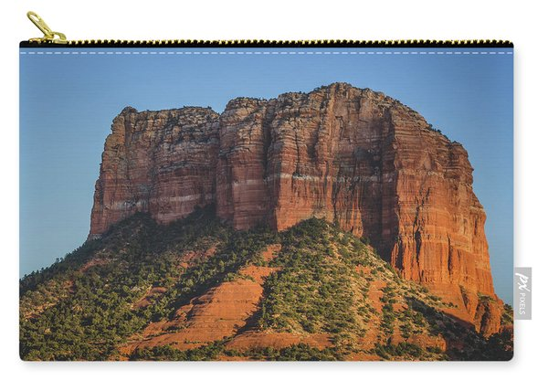 Courthouse Butte At Sunset Carry-all Pouch