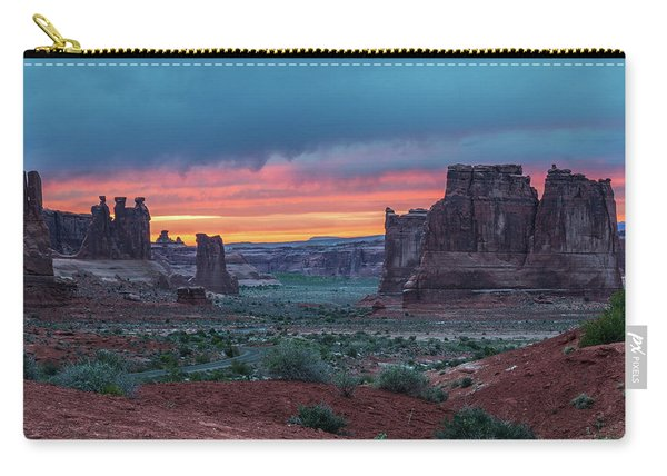 Courthouse Towers Arches National Park Carry-all Pouch
