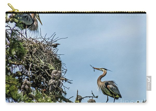 Courting Herons 1 Carry-all Pouch