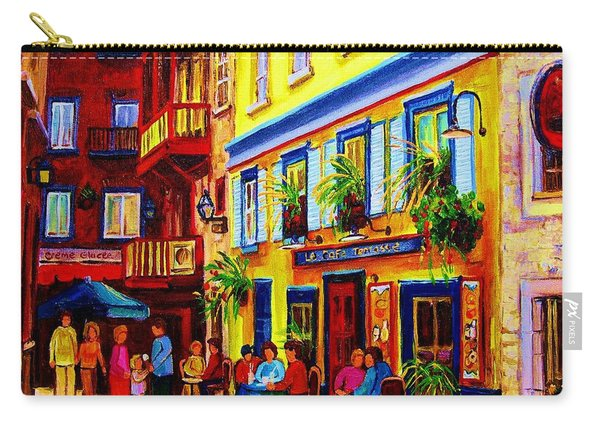 Courtyard Cafes Carry-all Pouch