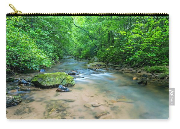 Carry-all Pouch featuring the photograph Cove Creek Panorama by Ranjay Mitra
