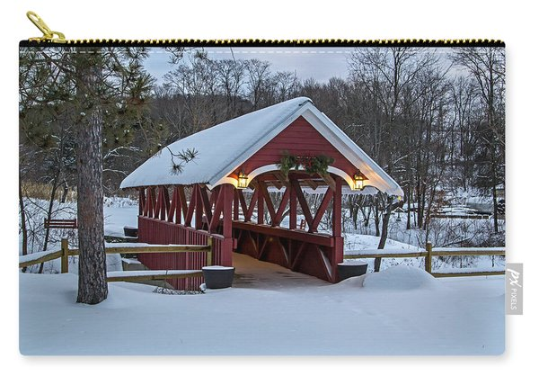 Covered Bridge In The Winter Carry-all Pouch