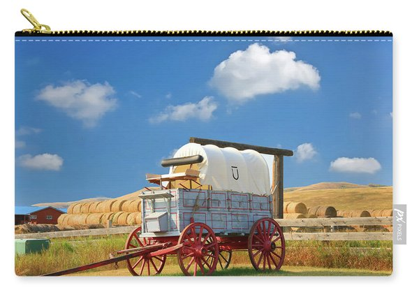 Covered Wagon - Bar U Ranch Alberta Canada Carry-all Pouch