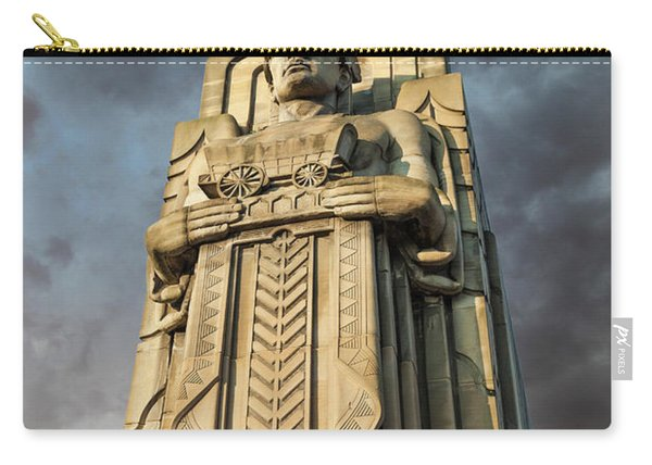 Covered Wagon Guardian On Hope Memorial Bridge Carry-all Pouch