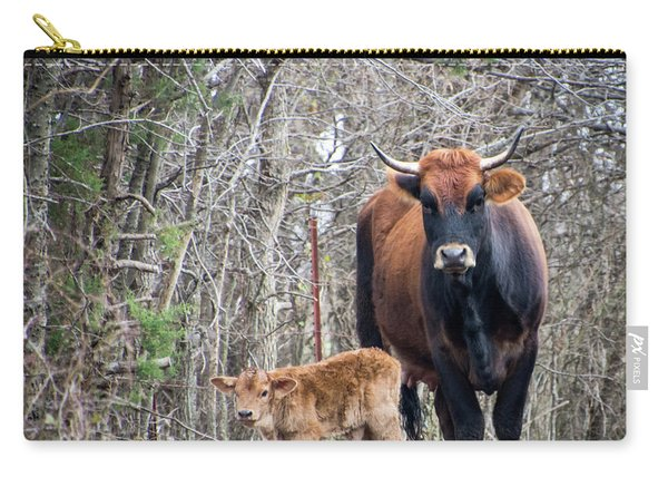 Cow And Calf Carry-all Pouch