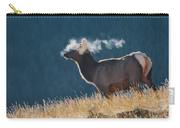 Cow Elk With Steamy Breath Carry-all Pouch