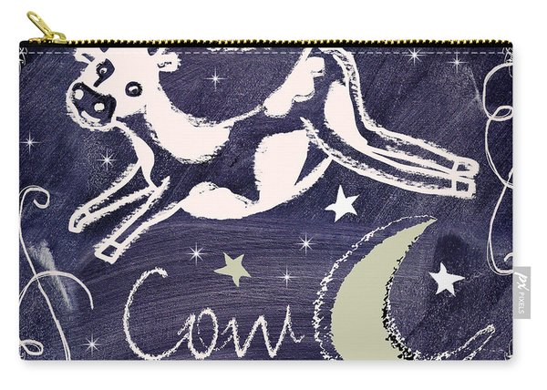 Cow Jumped Over The Moon Chalkboard Art Carry-all Pouch