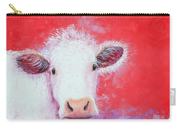 Cow Painting - Charolais Carry-all Pouch