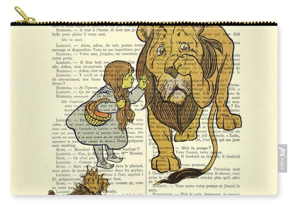 Cowardly Lion, The Wizard Of Oz Scene Carry-all Pouch