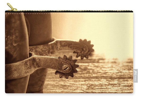 Cowboy Boots And Riding Spurs Carry-all Pouch