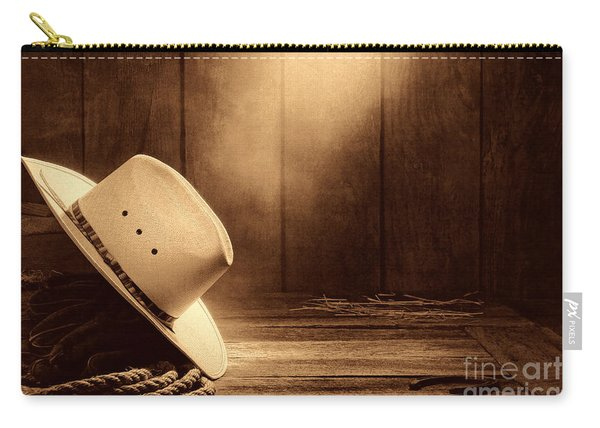 Cowboy Hat In The Old Barn Carry-all Pouch