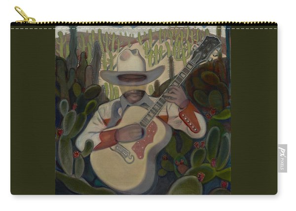 Cowboy In The Cactus Carry-all Pouch