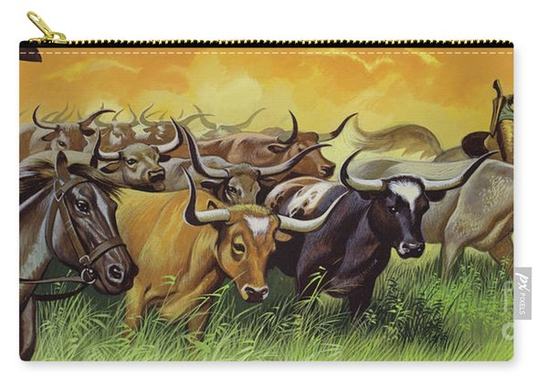 Cowboys Herding Cattle Carry-all Pouch