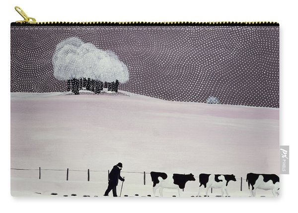 Cows In A Snowstorm Carry-all Pouch