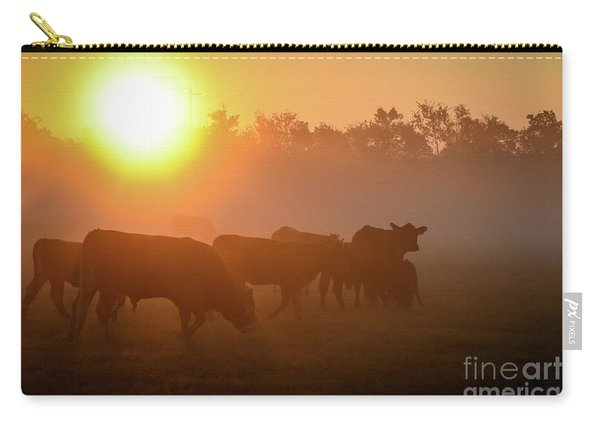 Cows In The Sunrise Mist Carry-all Pouch