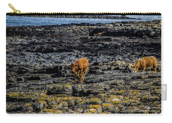 Cows On The Rocks Carry-all Pouch
