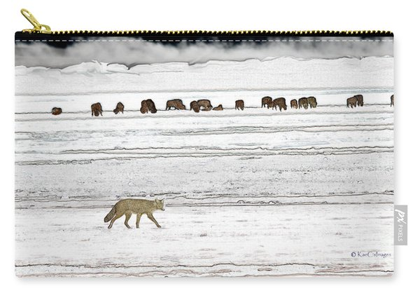 Coyote And Bison Carry-all Pouch