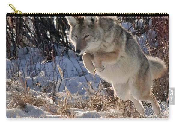 Coyote In Mid Jump Carry-all Pouch