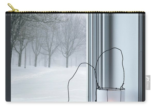 Cozy Lanterns And Winter Landscape Seen Through The Window Carry-all Pouch