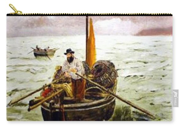 Carry-all Pouch featuring the painting Crab Fisherman by Richard Le Page
