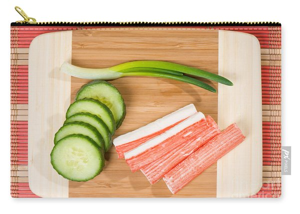Crab Sticks Of Surimi And Cucumber With Chives  Carry-all Pouch
