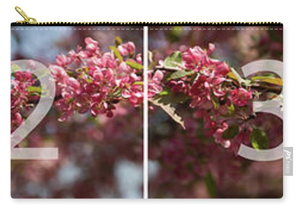 Crabapple In Spring Panoramic Map Carry-all Pouch