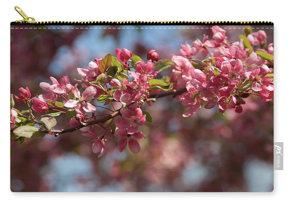 Crabapple In Spring Section 2 Of 4 Carry-all Pouch