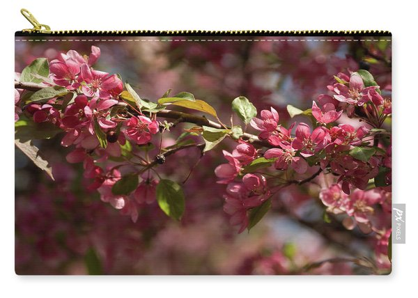 Crabapple In Spring Section 3 Of 4 Carry-all Pouch