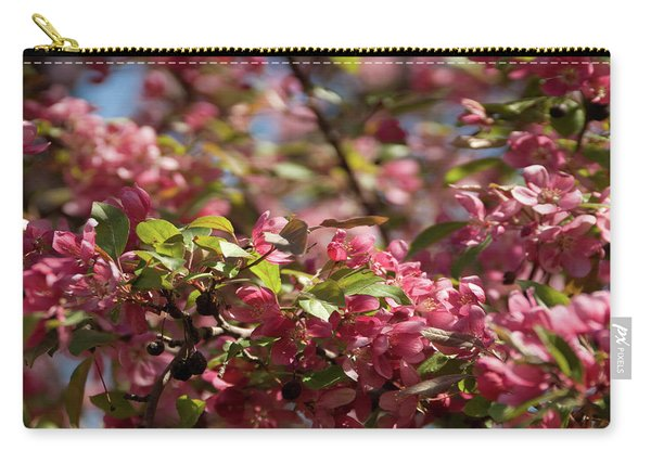 Crabapple In Spring Section 4 Of 4 Carry-all Pouch